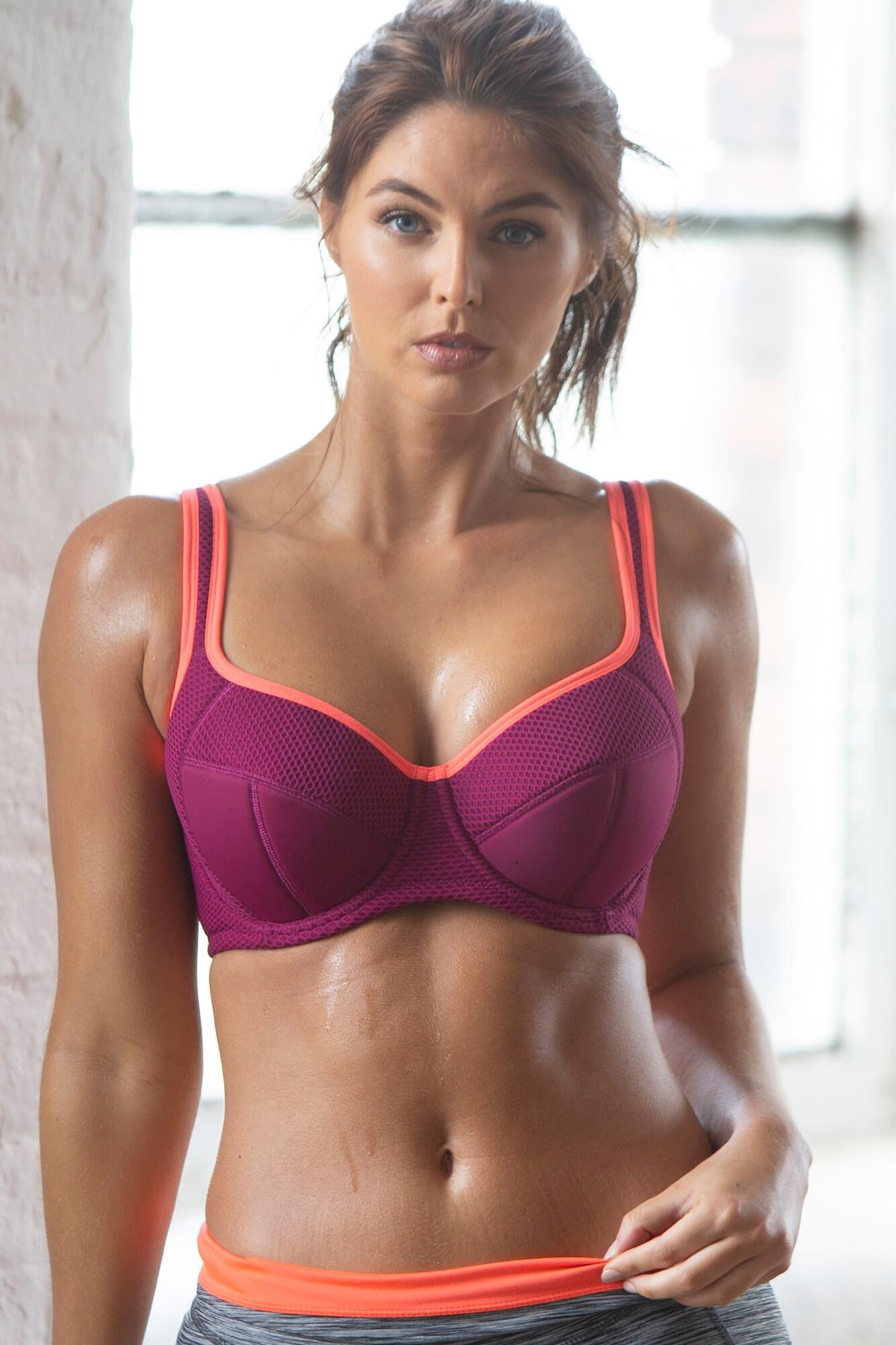 Energy Underwired Lightly Padded Sports Bra - Berry/Coral