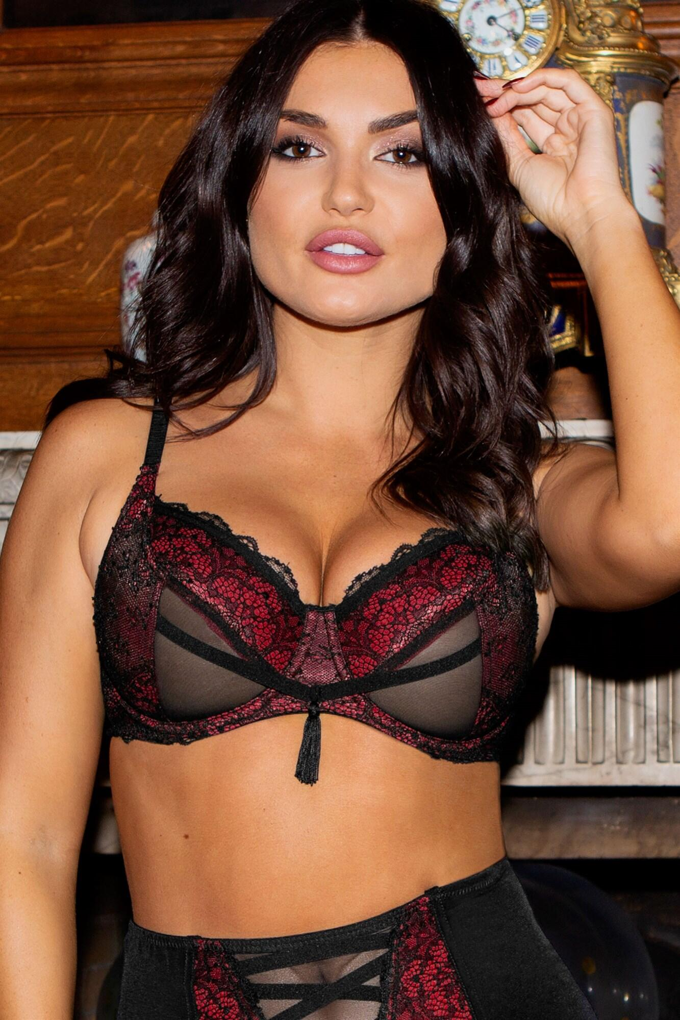 Imagine Underwired Bra - Black/Red