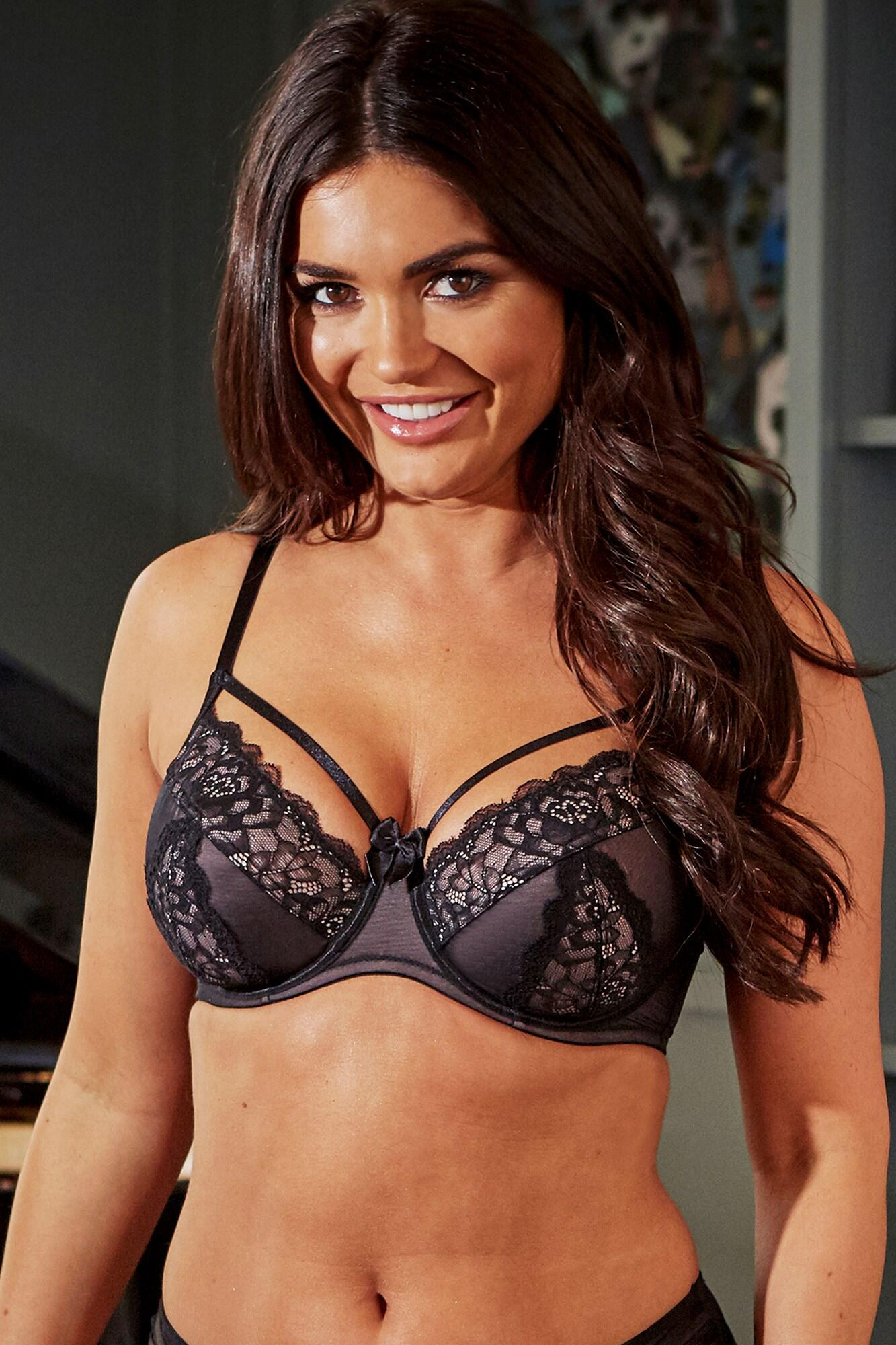 Confession Underwired Bra - Black/Pink