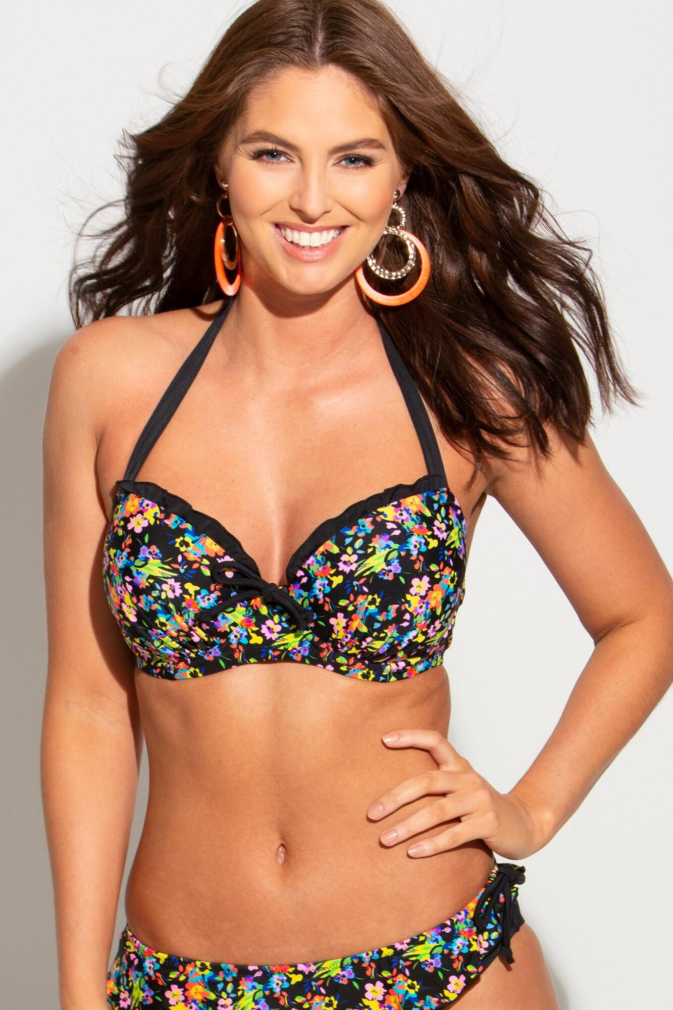 Sunkissed Padded Halter Underwired Top - Multi