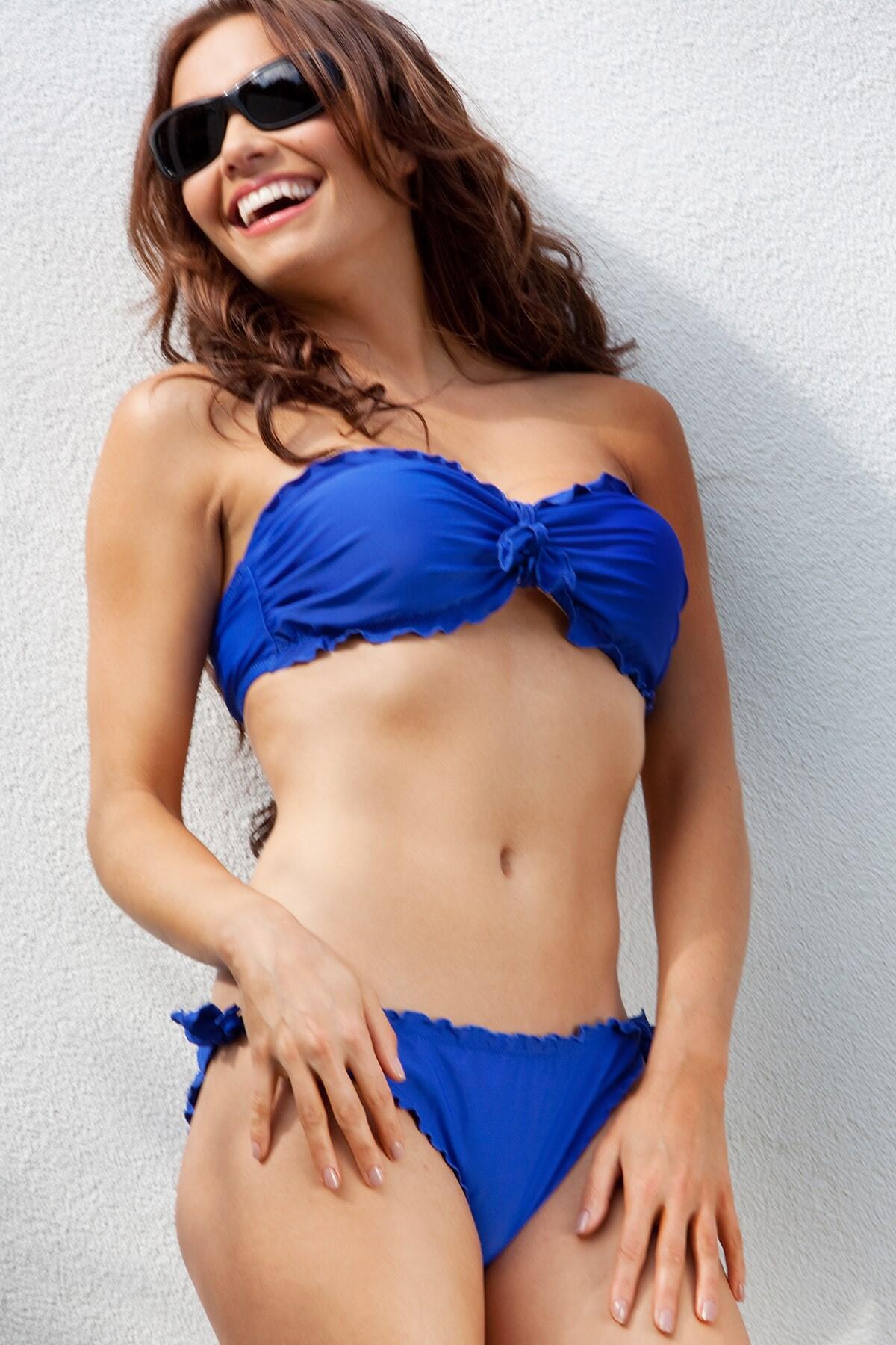 Bold Bandeau Top - Blue