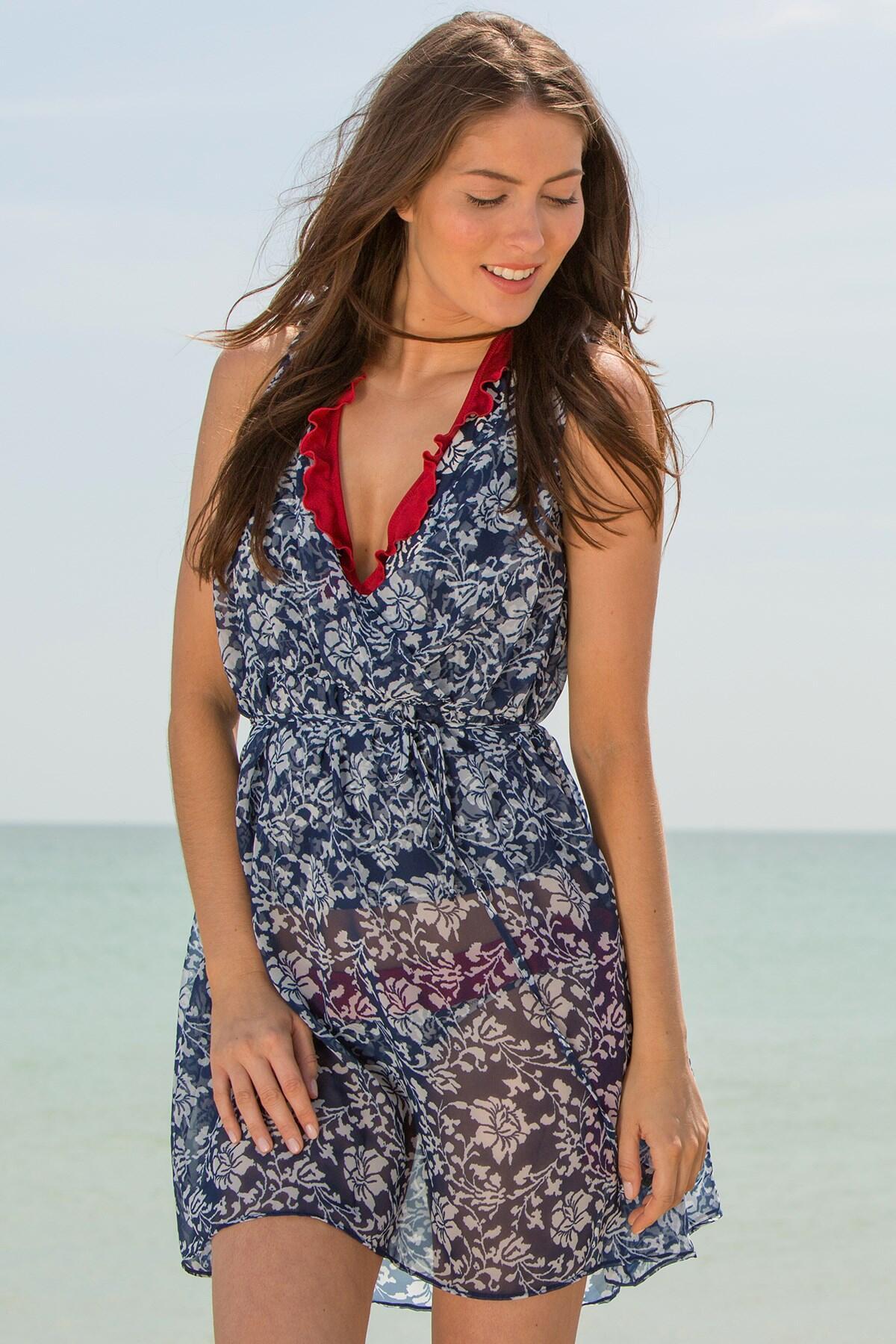 Aloha Sleeveless Dress - Blue
