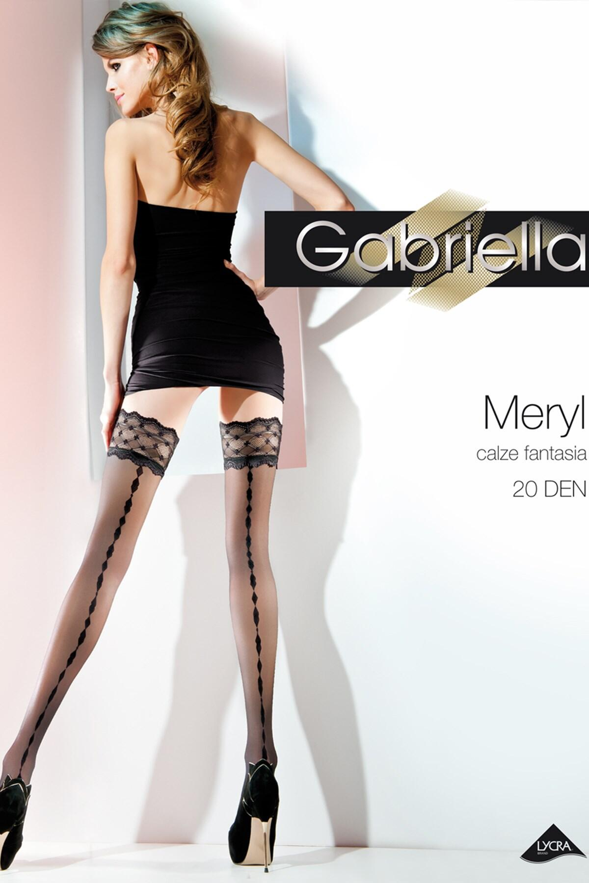 Meryl Hold Ups Black - Black