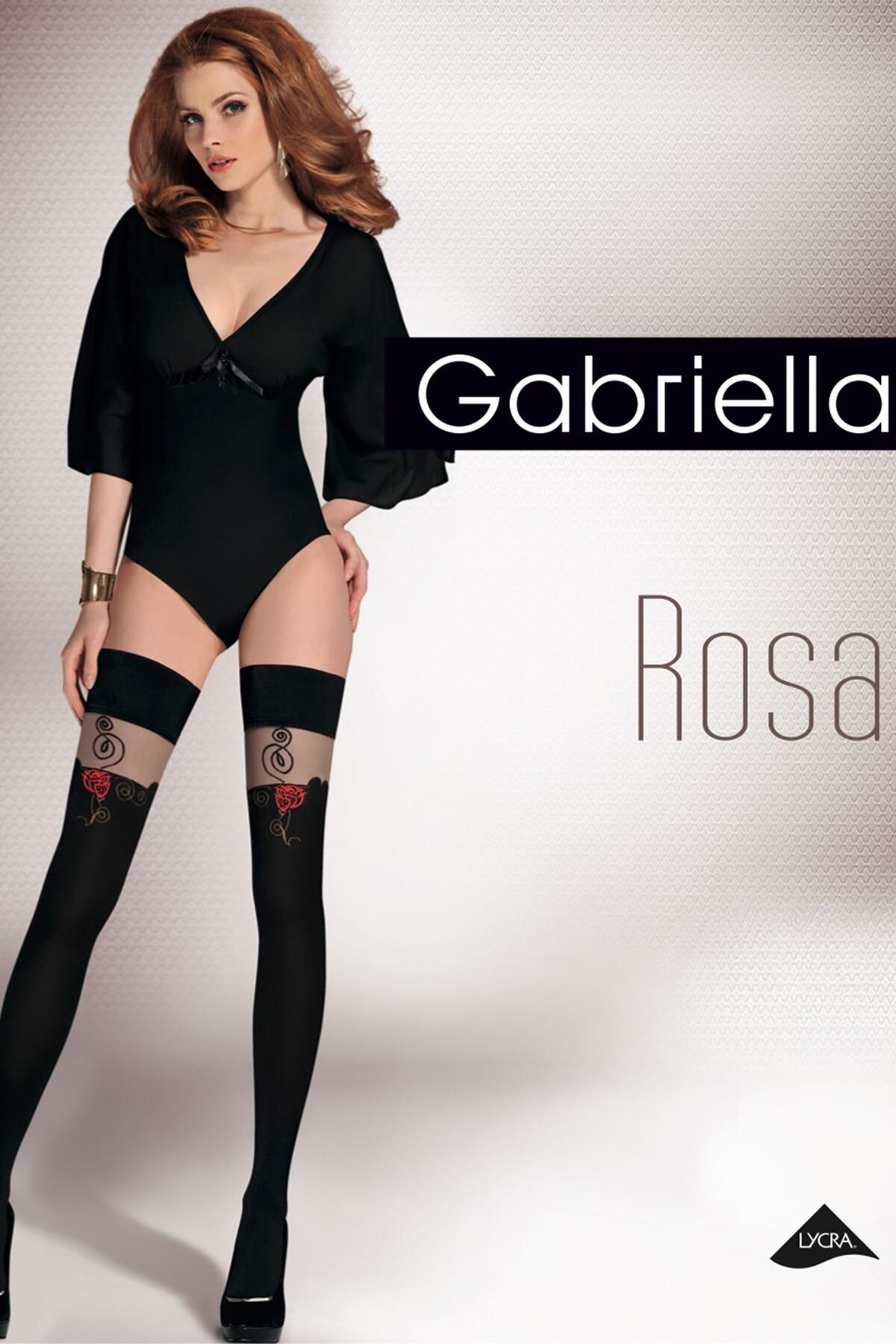 Gabriella Rosa Hold Ups - Black