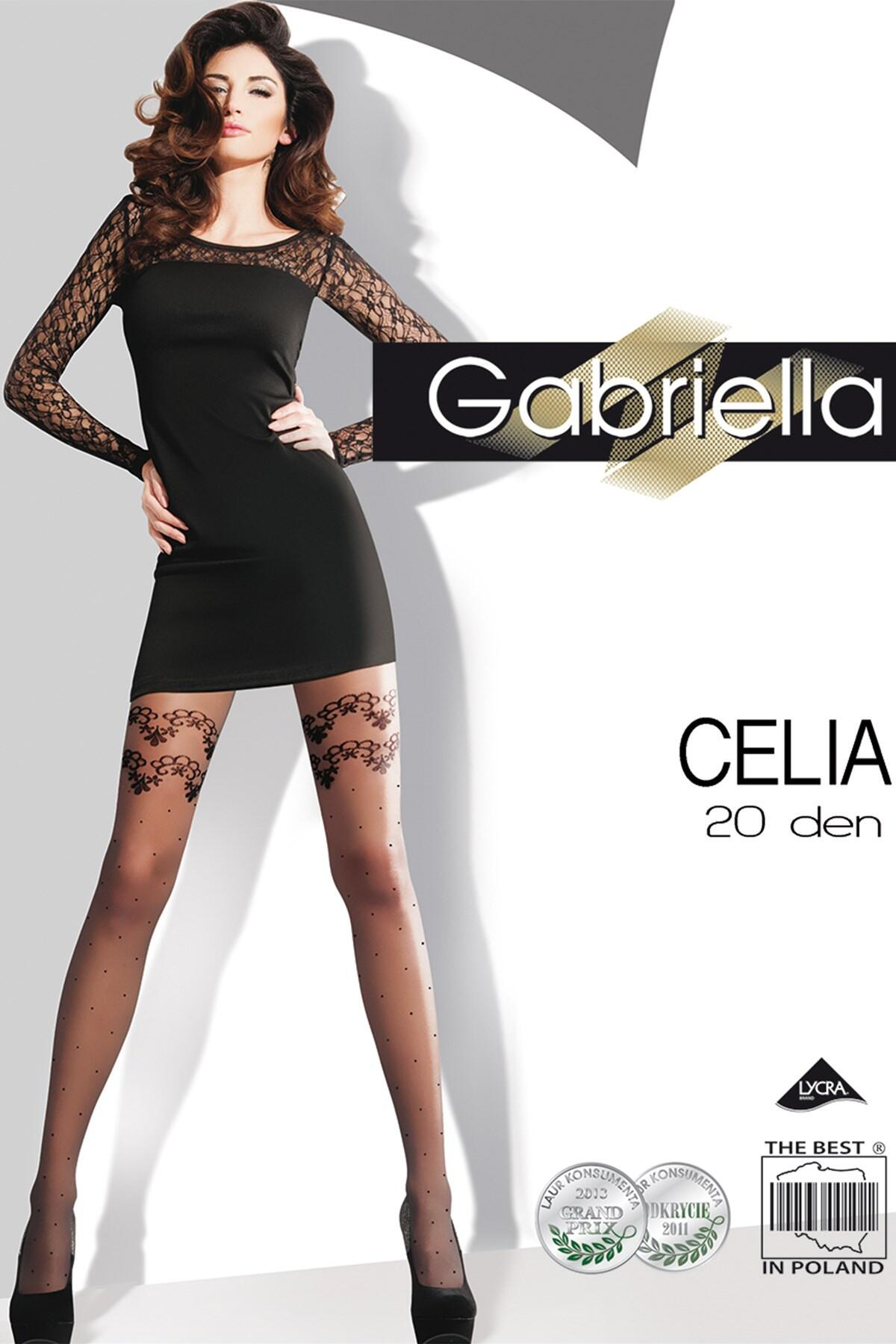 Gabriella Celia Fashion 20 Den Lycra - Black