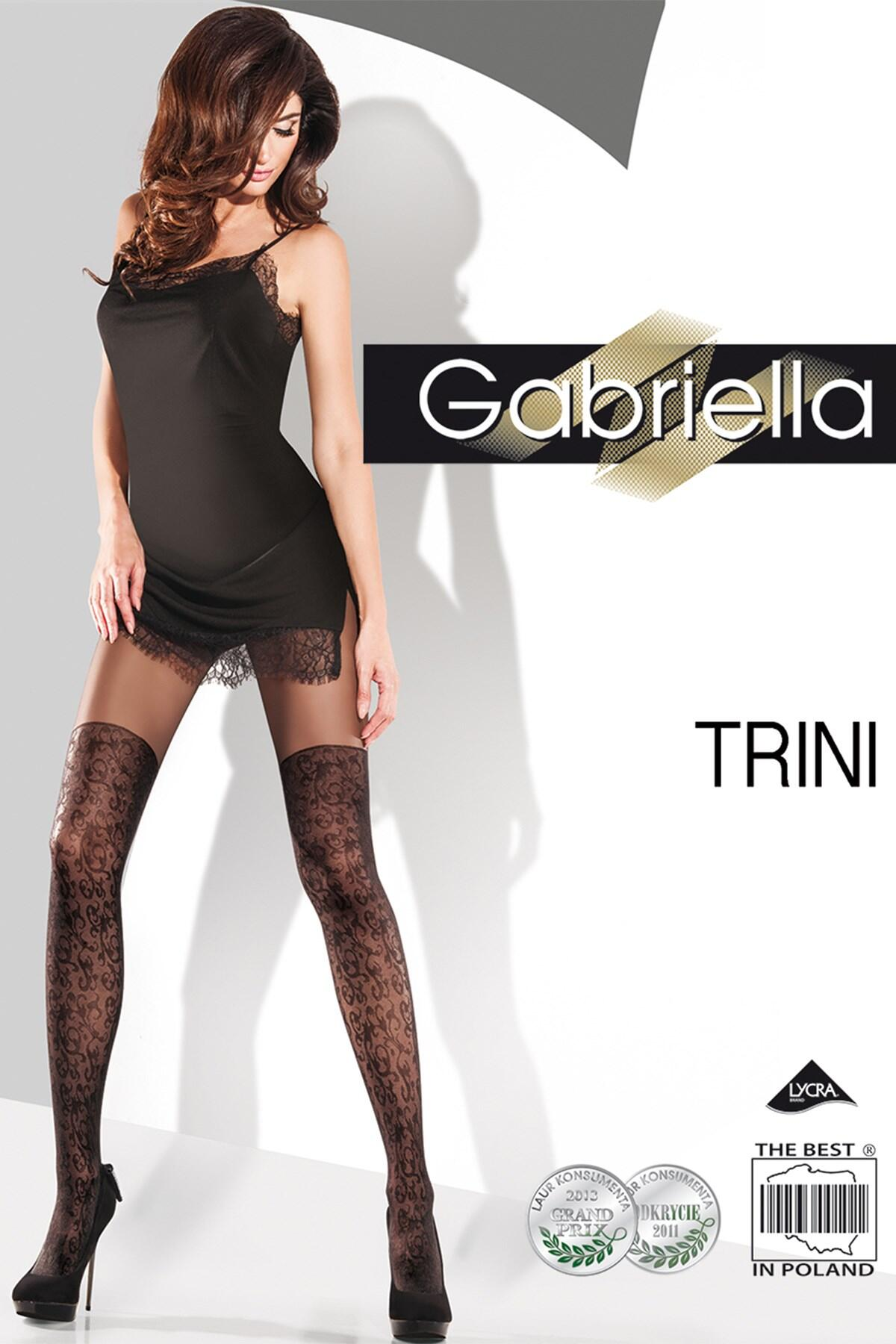 Gabriella Trini Fashion 20 Den Lycra - Black