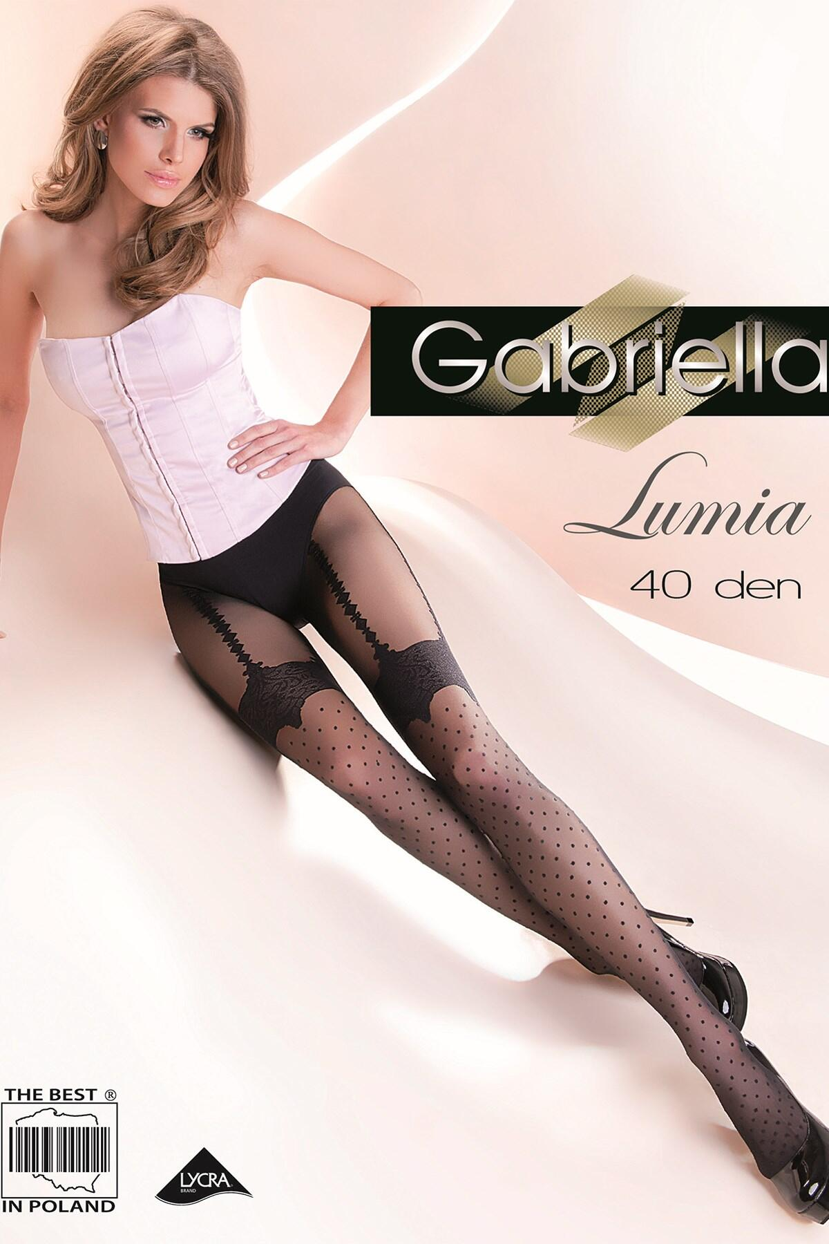 Gabriella Lumia Fashion 40 Den Lycra - Black