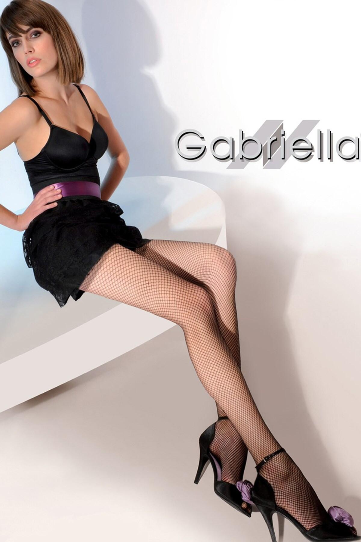 Gabriella Model 151 Fishnet Tights - Black