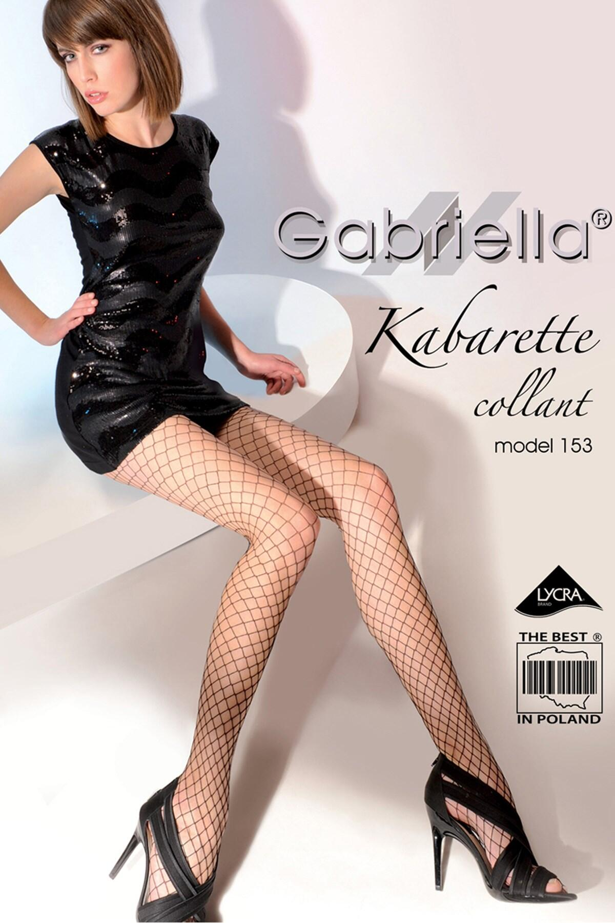 Gabriella Model 153 Fishnet Tights - Black