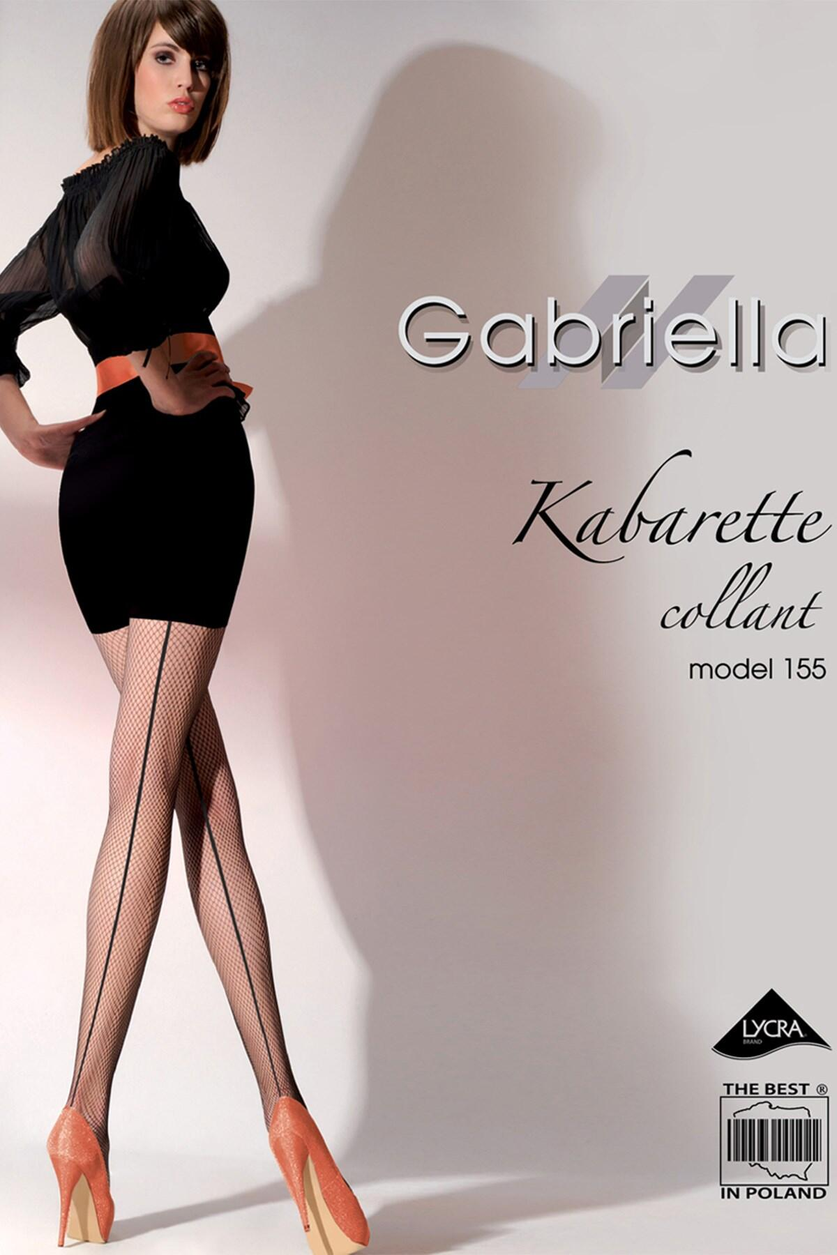 Gabriella Model 155 Fishnet Tights - Black