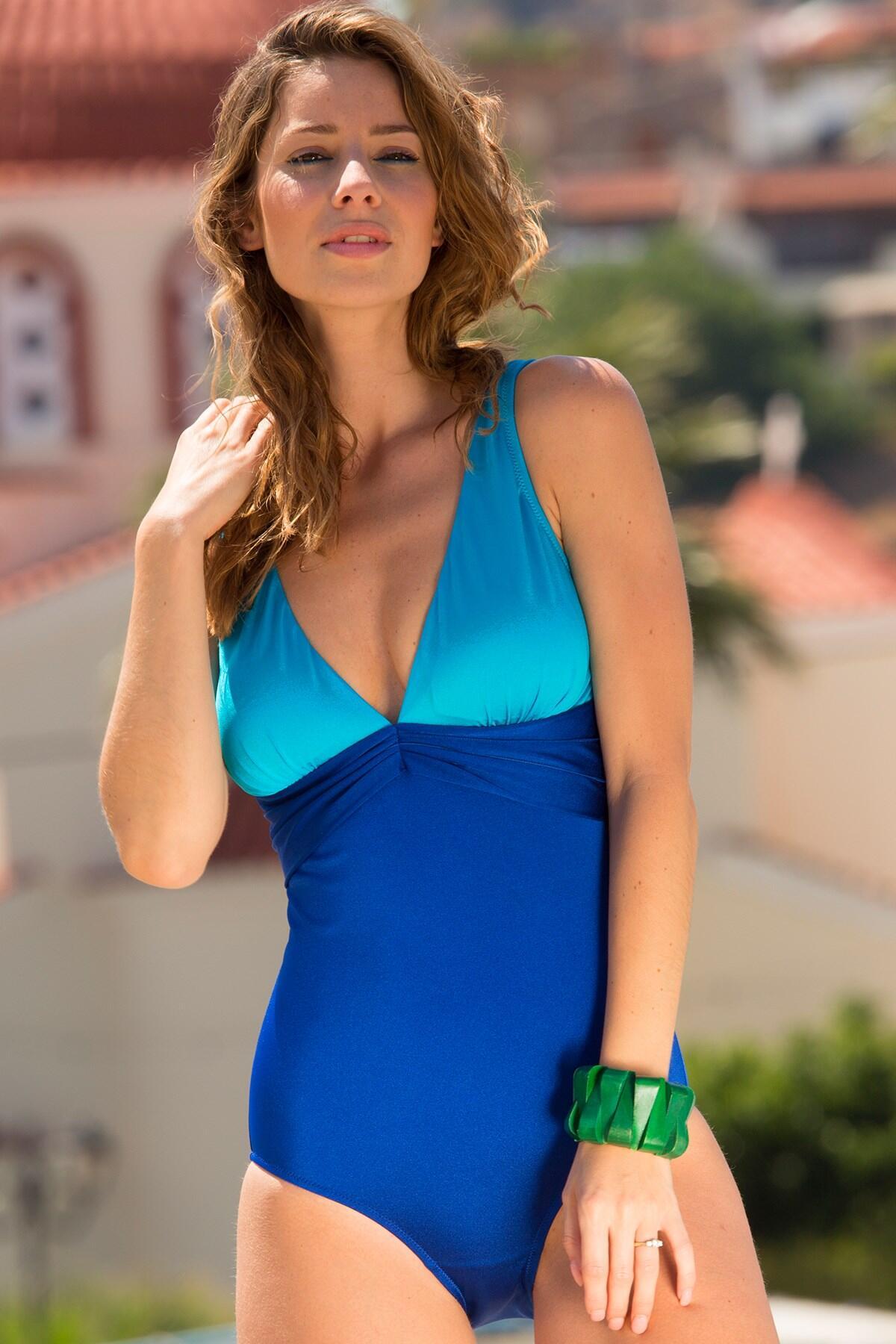 Bahamas Control Swimsuit - Blue/Aqua