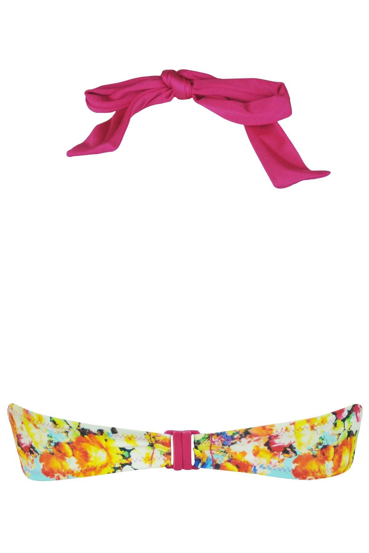 Pour Moi Seville Padded Halter Bikini Top 24000 Multi New Womens Swimwear