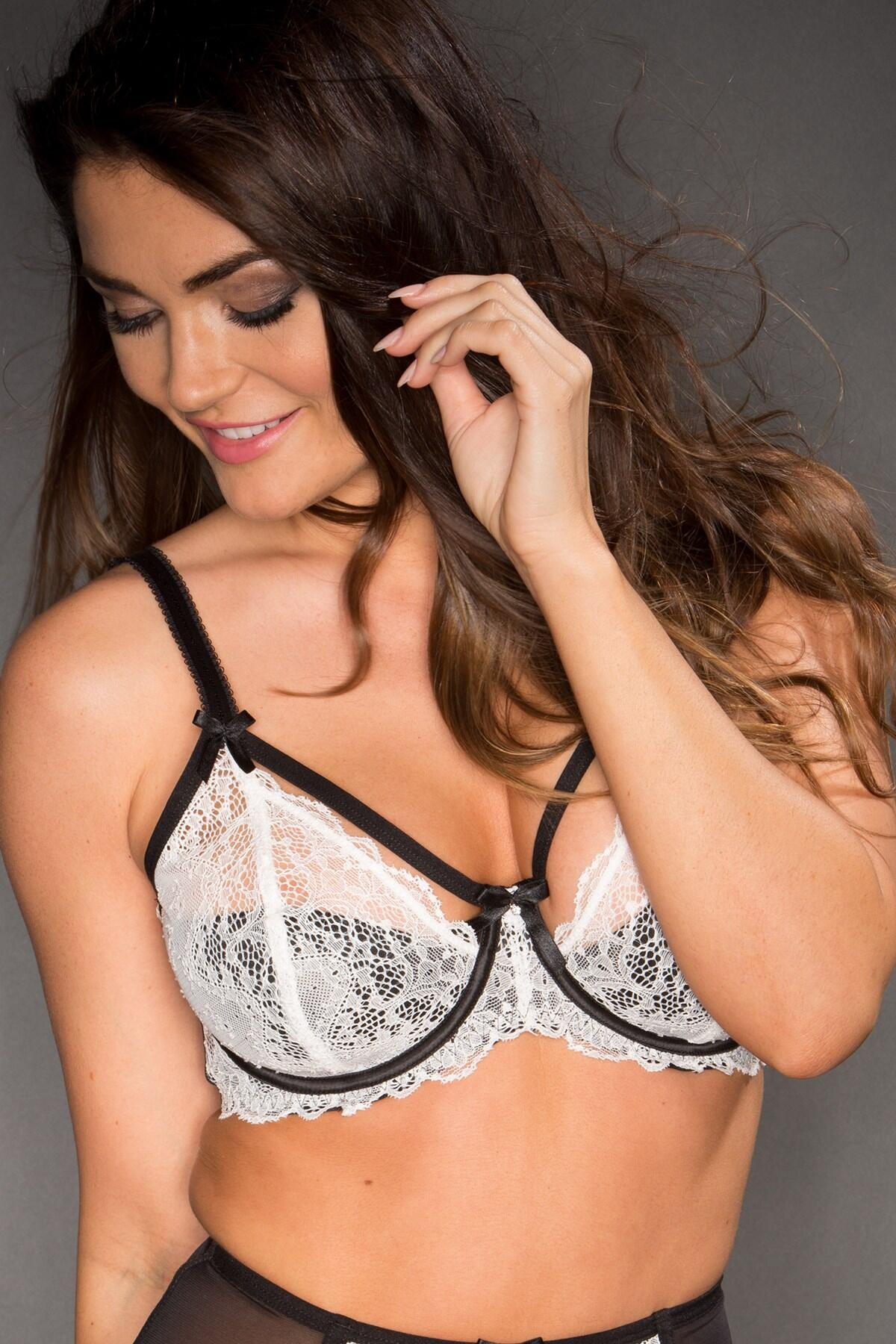 Obsession Half Padded Bra - Ivory/Black