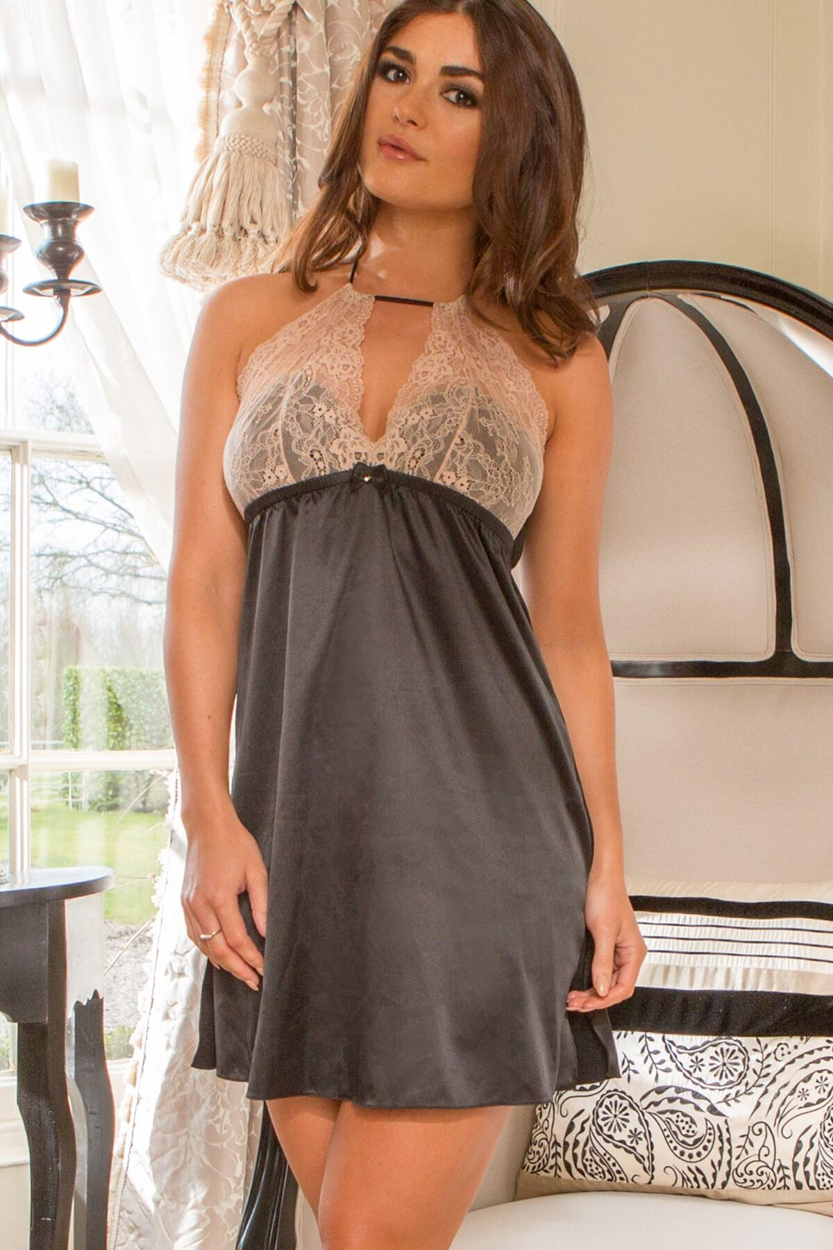 Envy Chemise - Black/Natural