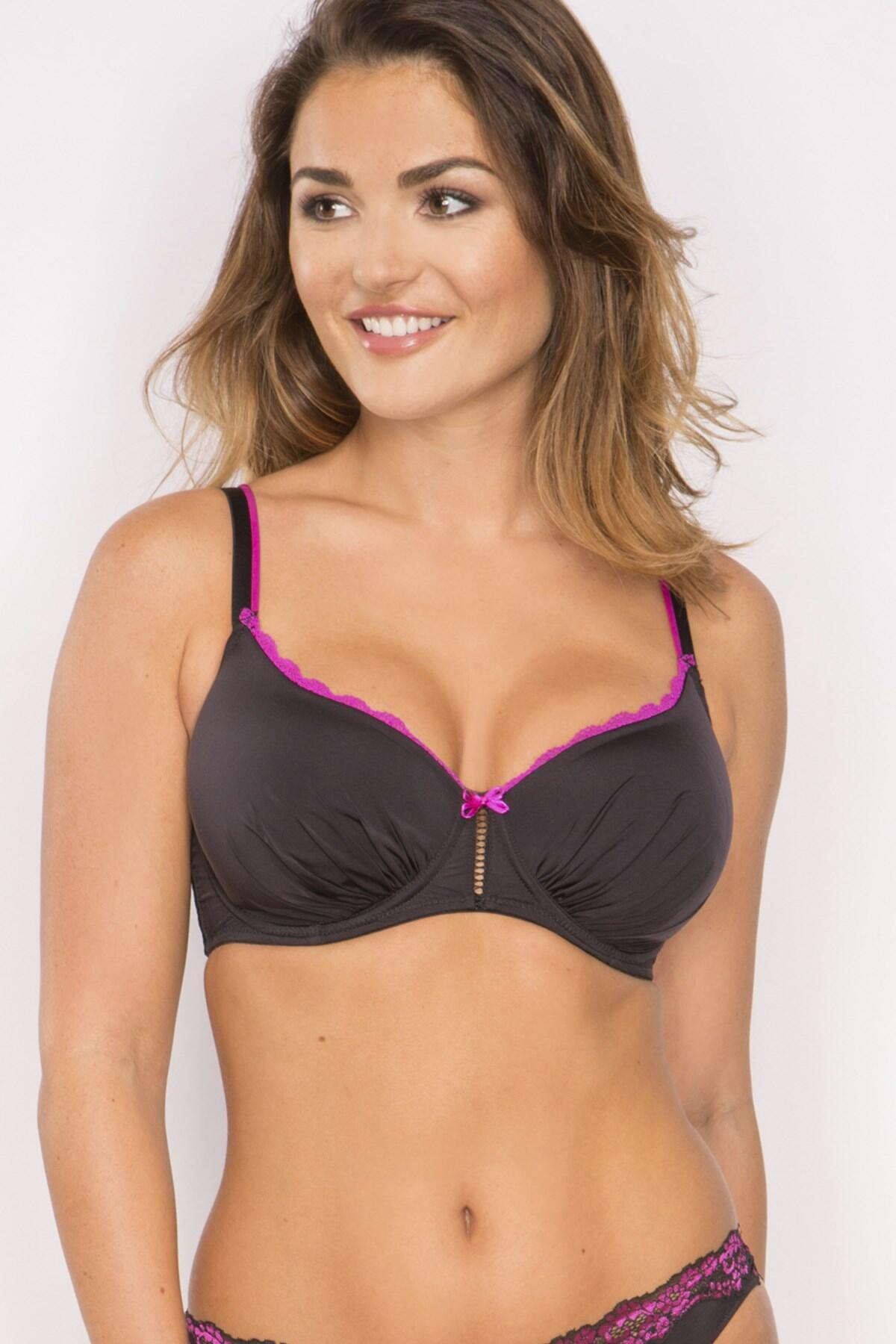 Fever T Shirt Bra - Black/Rose