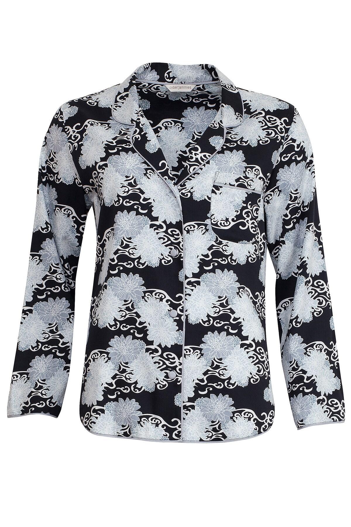 Monochrome Elegance Top - Black