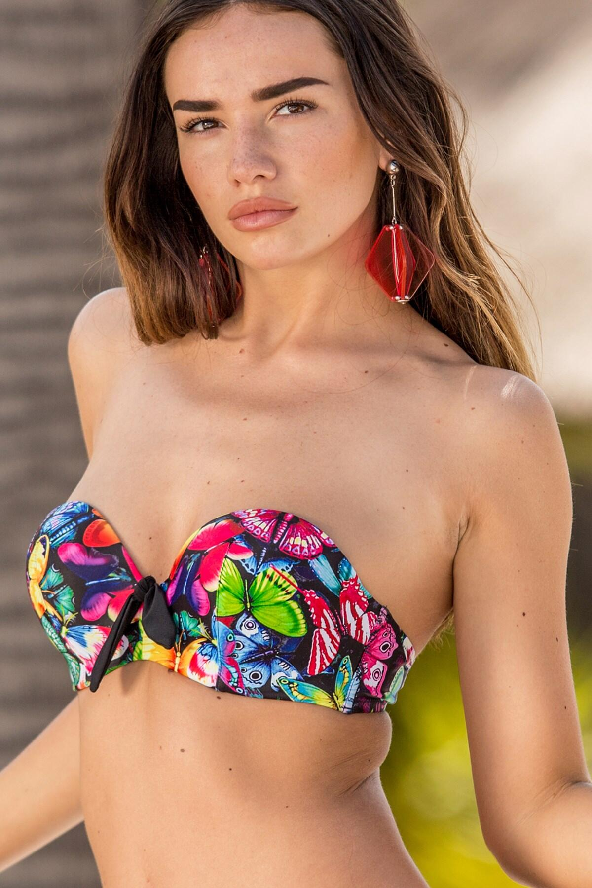 Copacabana Padded Strapless Underwired Top - Multi