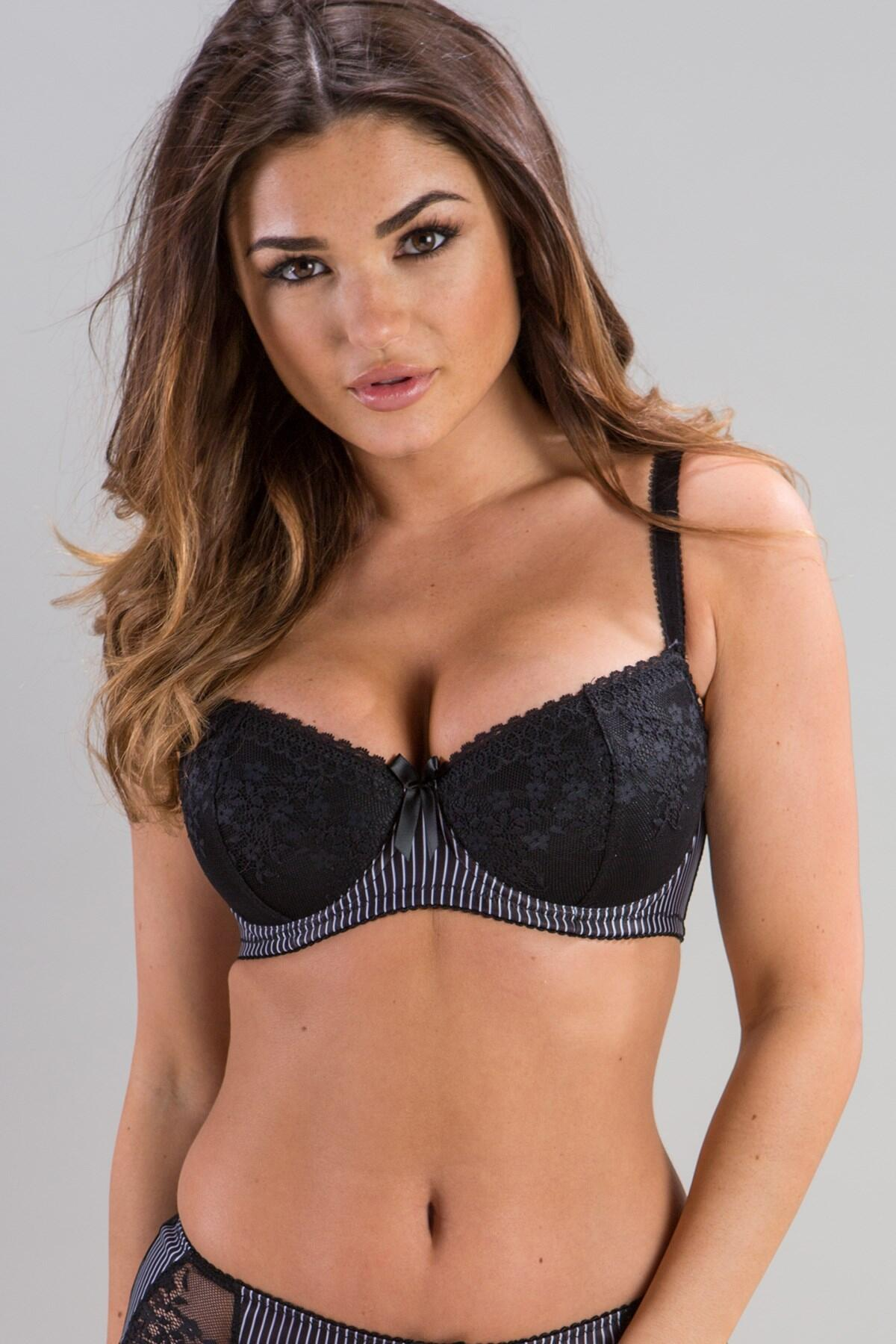 Madison Lightly Padded Bra - Pinstripe