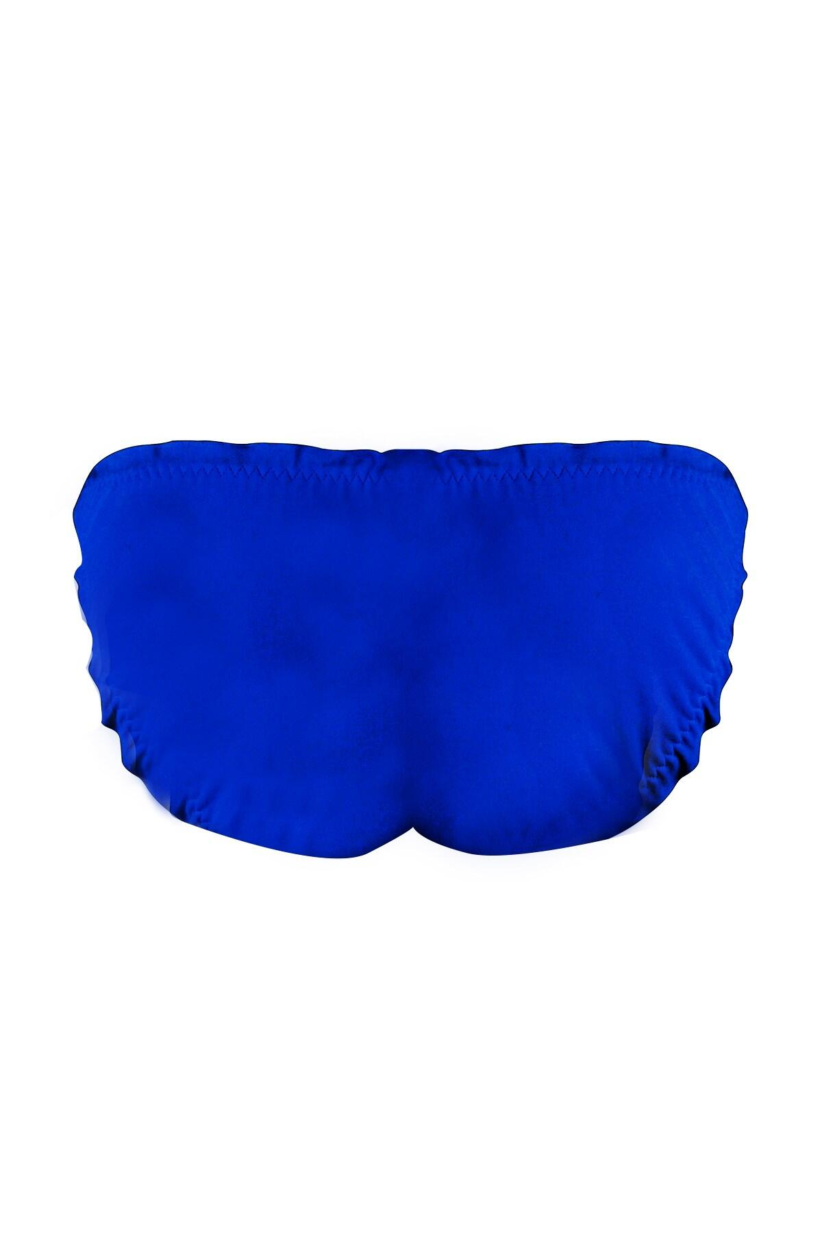 62006 Ultramarine- Pour Moi Mesh It Up Tie Side Frill Bikini Brief