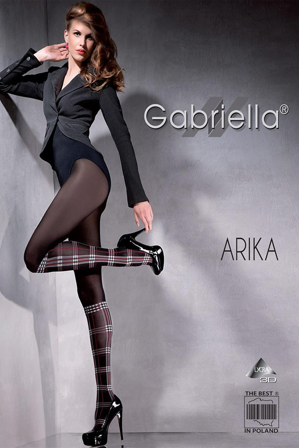Arika Tartan Patterned Tights  - Black