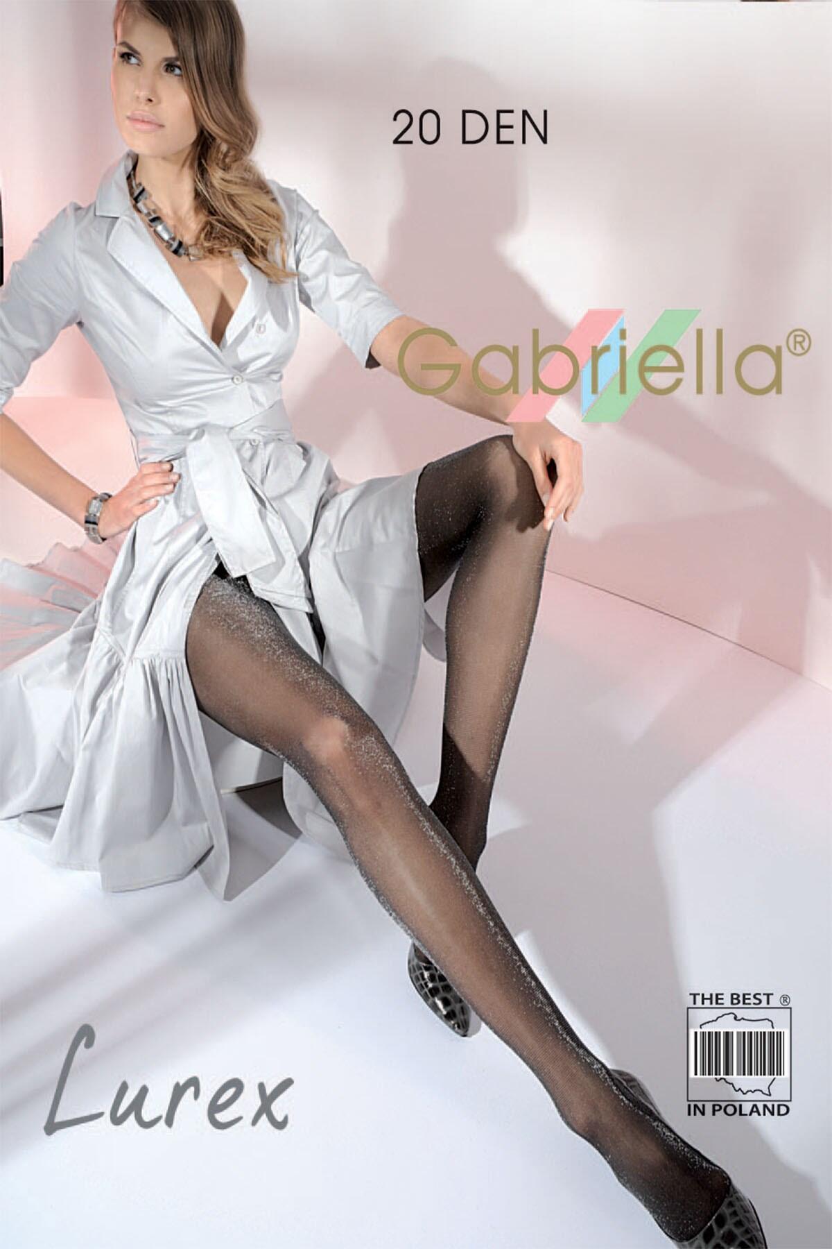 Gabriella Lurex 20 Denier Silky Tight  - Black/Gold