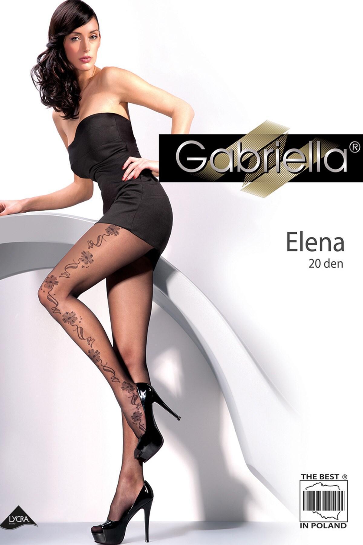 Gabriella Elena Patterned 20 Denier Tight 464 - Black