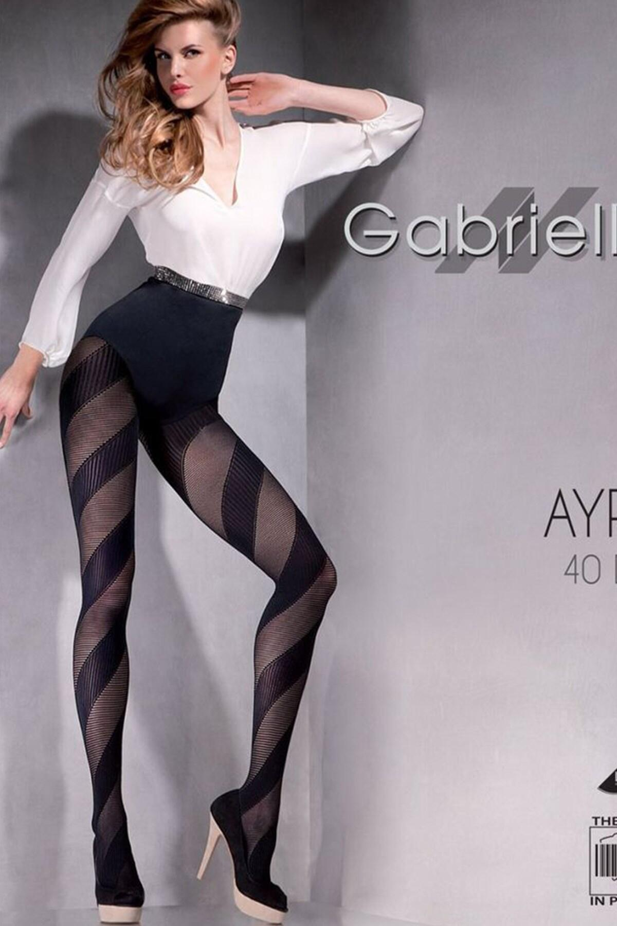 Ayra 40 Denier Patterned Tights 388 - Black