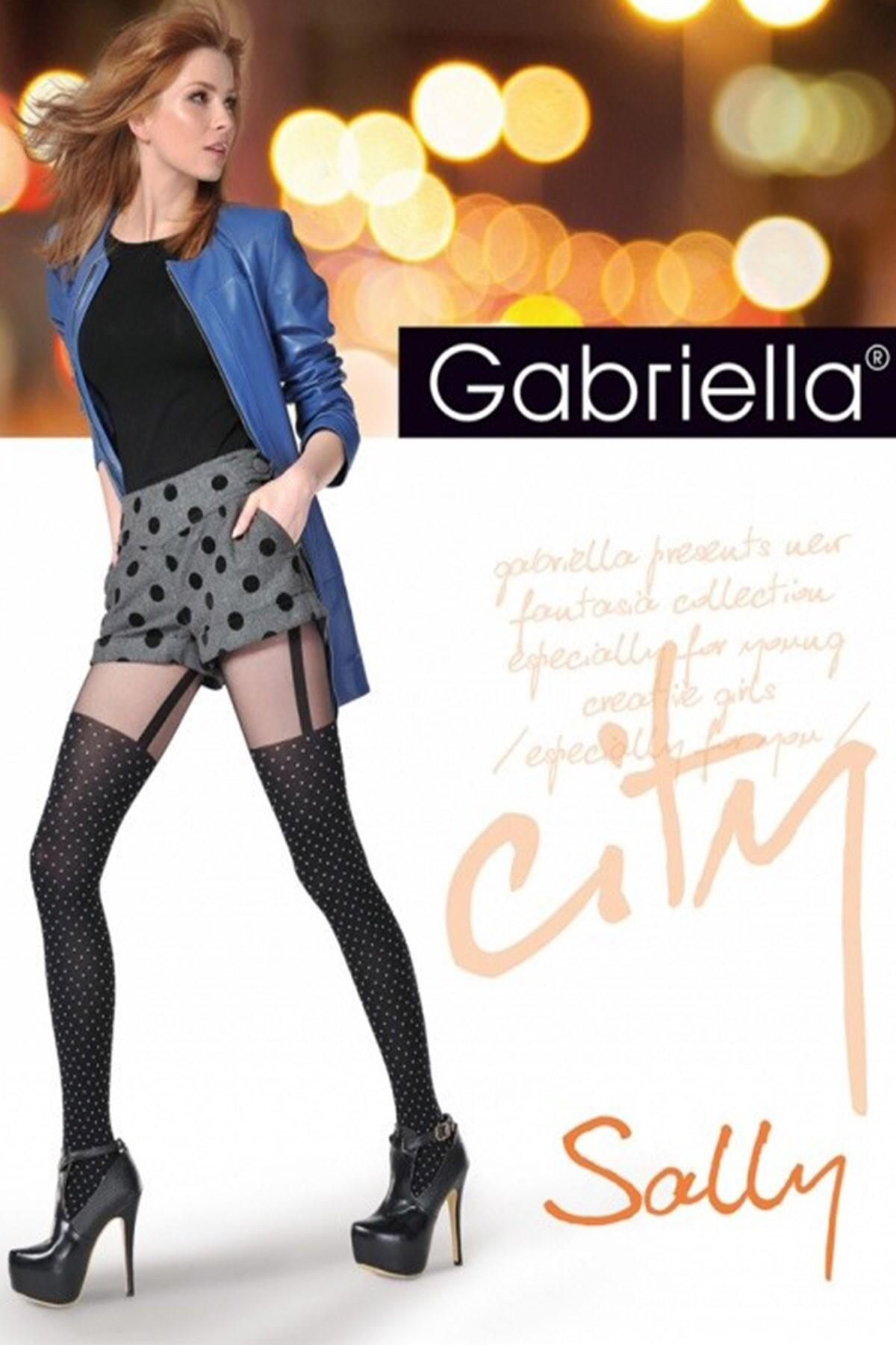 Gabriella City Sally Tights  - Black Spot