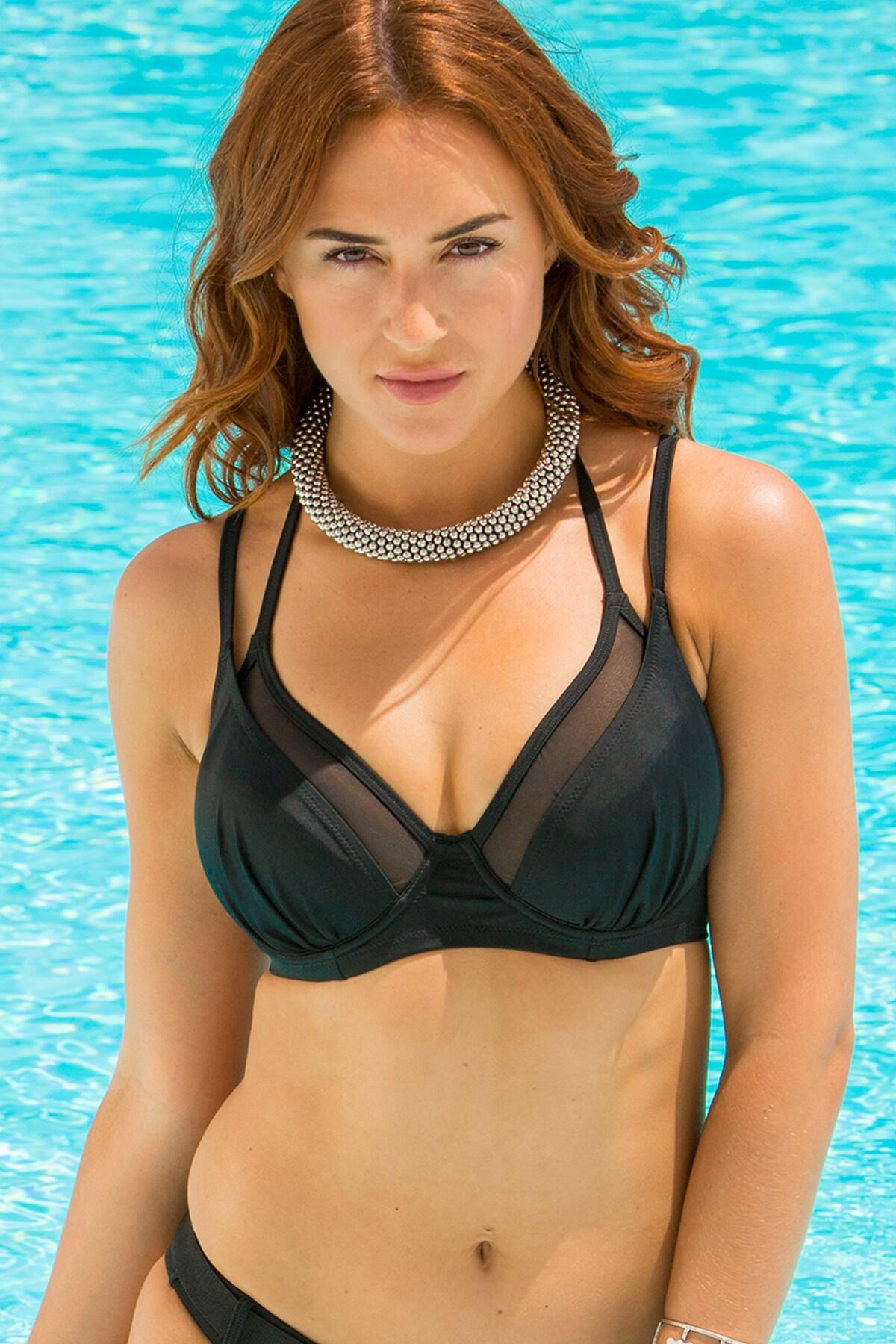 LBB Double Strap Underwired Convertible Top - Black