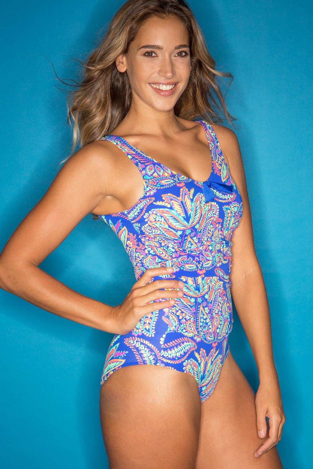 Amalfi Control Swimsuit  - Blue