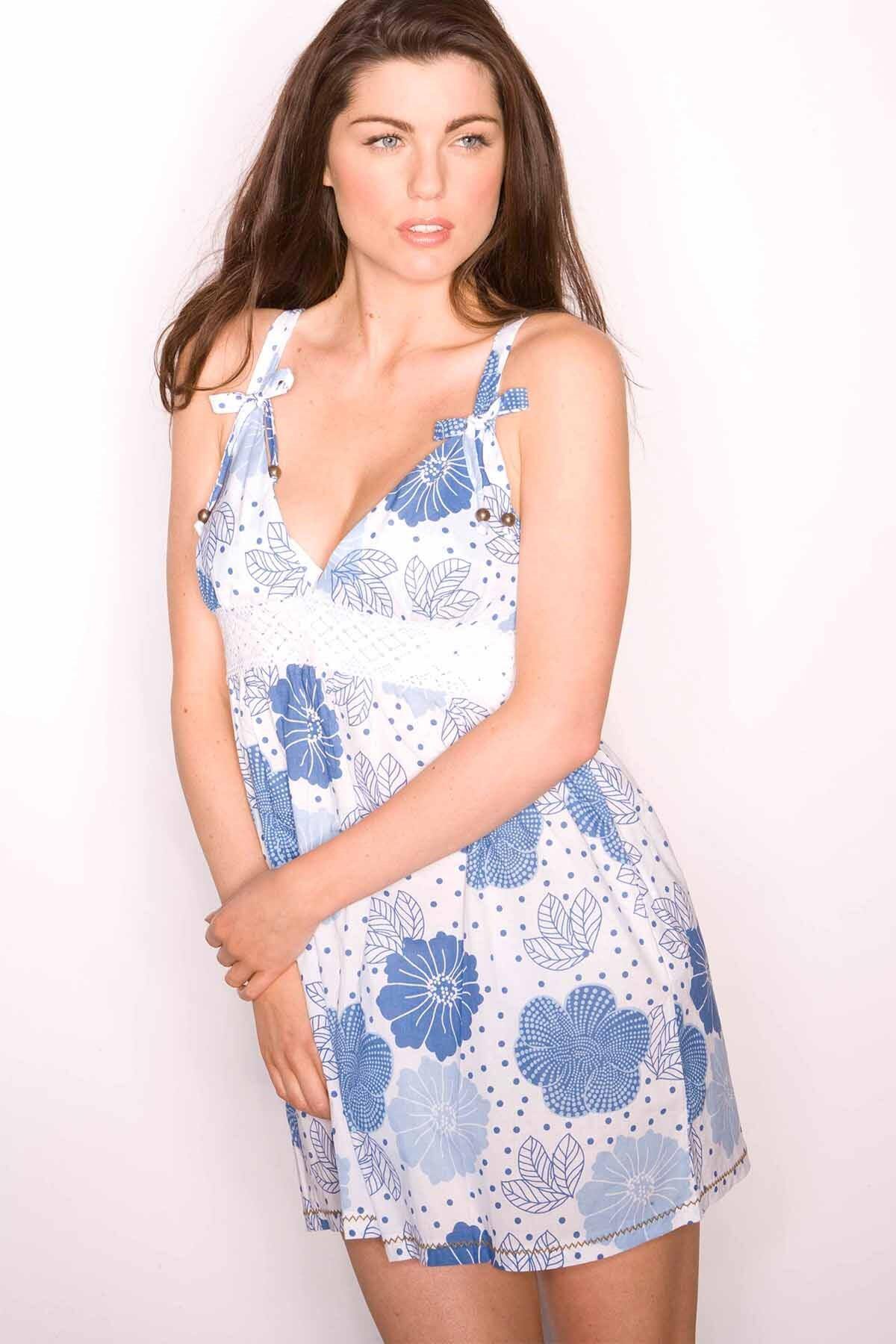 St Lucia Beach Dress - Blue