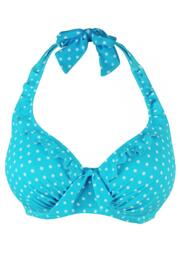 Hot Spots Halter Underwired Top - Aqua