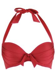 Azure Lightly Padded Underwired Clasp Back Top - Red