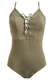Barcelona Rope Swimsuit - Khaki