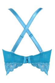 Amour Convertible Underwired Bralette - Teal/Raspberry