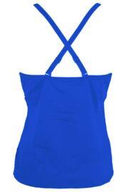 Glamazon Cami Convertible Underwired Half Padded Tankini Top - Blue
