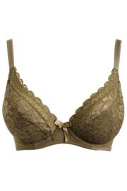 Rebel Underwired Plunge Bra - Khaki