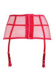 Strapped Suspender - Scarlet