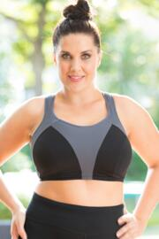 Energy Non Wired Full Cup Sports Bra - Black/Slate