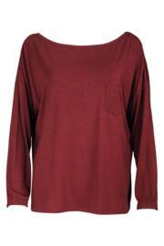 Sofa Love Long Sleeve Top - Deep Red