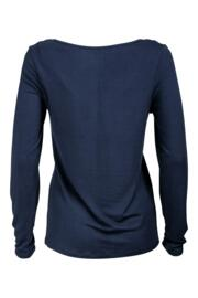 Moonstruck Plain Long Sleeve Secret Support Top - Navy