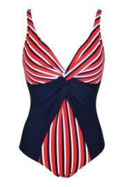 Hamptons Control Swimsuit  - Multi Stripe