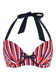 Hamptons Pad Halter U/W Top - Multi Stripe
