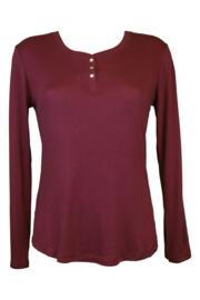 Deck The Halls Long Sleeve Knit Top - Berry