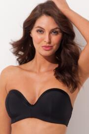 Jet Set Strapless Padded Top - Black