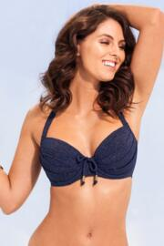 Barcelona Padded Underwired Top - Navy
