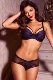 Hush Padded Bra - Blue/Black
