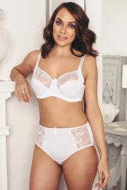 Imogen Rose Embroidered Brief - White