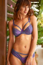 Instinct Lightly Padded Bra - Silver/Purple