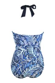 Barracuda Underwired Halter Swimsuit - Black/Blue